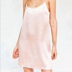 Urban Outfitters pink satin slip dress